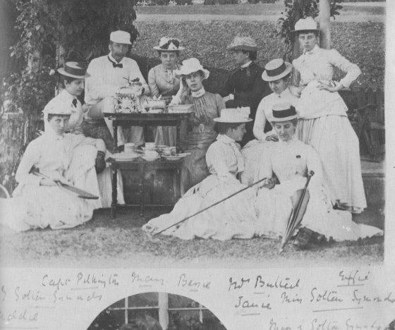Summer tea in a Devon garden in the 1880s: photographed by Beatrice, Countess of Durham.