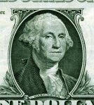Gideon Fairman's engraving of Gilbert Stuart's portrait, on the dollar bill