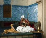 Jean Leon Gerome's finest work - Arnaut and his dog.