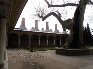 Chimneys of the kitchens at Topkapi