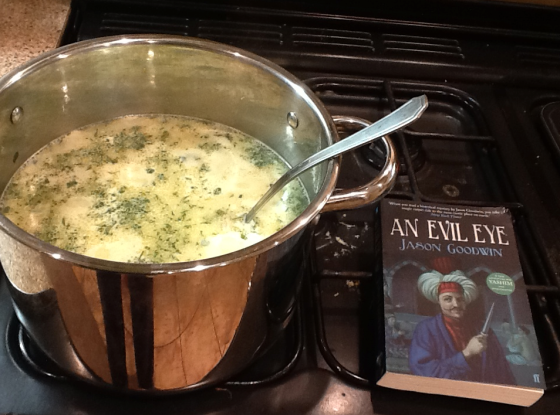 Widow Matalya's Chicken Soup - with a pleasantly battered copy of Yashim's fourth adventure!